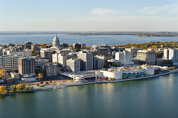Aerial view of Downtown Madison